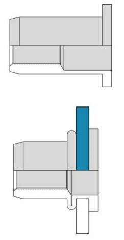 Заклепка Bralo стальная резьбовая цилиндрический бортик
